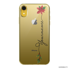 CUSTOM WITH CHRISTMAS LEAVES - Iphone XR