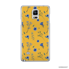 BLUE FLOWERS ON YELLOW THEME - Samsung Galaxy Note 4