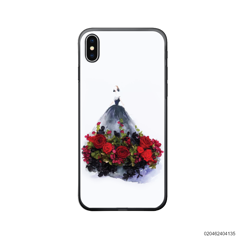 GIRL IN MAGIC RED ROSE DRESS - Iphone X/ Xs