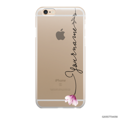 CUSTOM YOUR NAME WITH PINK MAGNOLIA - IPhone 6/6s Plus
