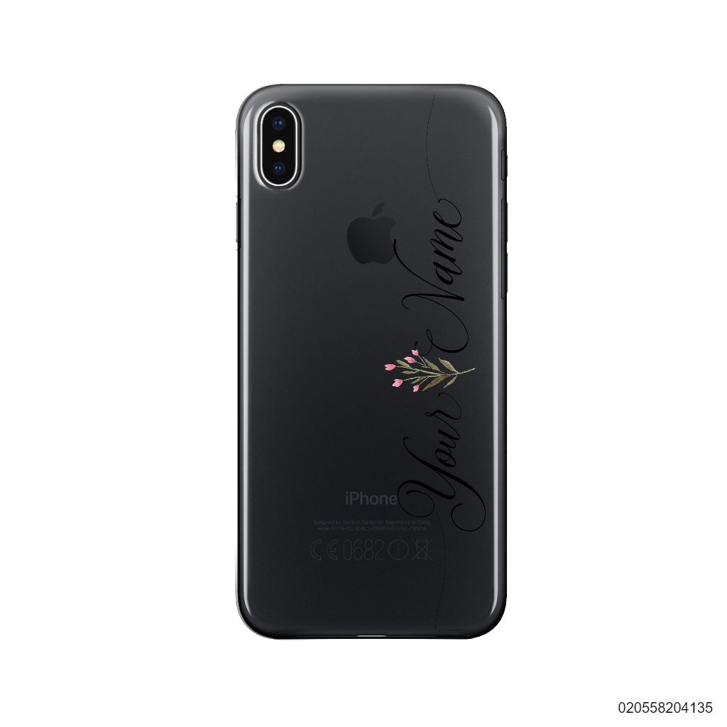 CUSTOM YOUR NAME WITH WILD FLOWERS - Iphone X/ Xs