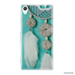 DREAM CATCHER WITH WHITE LEATHER - Sony Xperia Z2