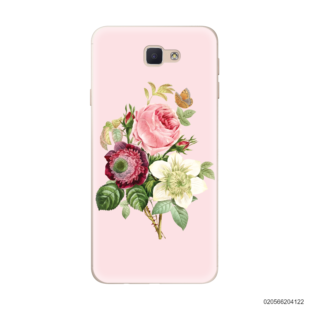PEONY BOUQUET ON PINK THEME - Samsung Galaxy J5 Prime