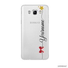 CUSTOM WITH RED RIBBON AND YELLOW STAR - Samsung Galaxy J7 2016