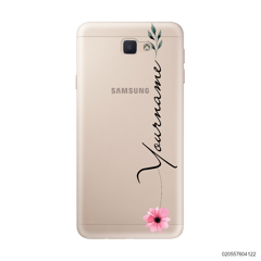 CUSTOM YOUR NAME WITH PINK FLOWER - Samsung Galaxy J5 Prime