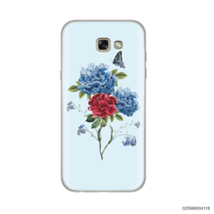BLUE PEONY BOUQUET ON BLUE THEME - Samsung Galaxy A5 2017