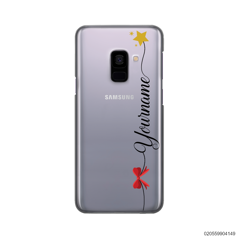 CUSTOM WITH RED RIBBON AND YELLOW STAR - Samsung Galaxy A8 Plus 2018