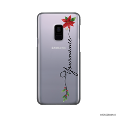 CUSTOM WITH CHRISTMAS LEAVES - Samsung Galaxy A8 Plus 2018