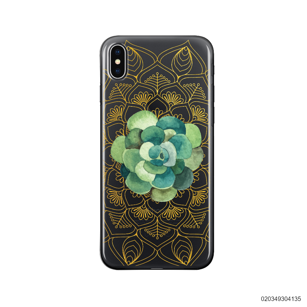 SUCCULENT MANDALA GOLD - Iphone X/ Xs