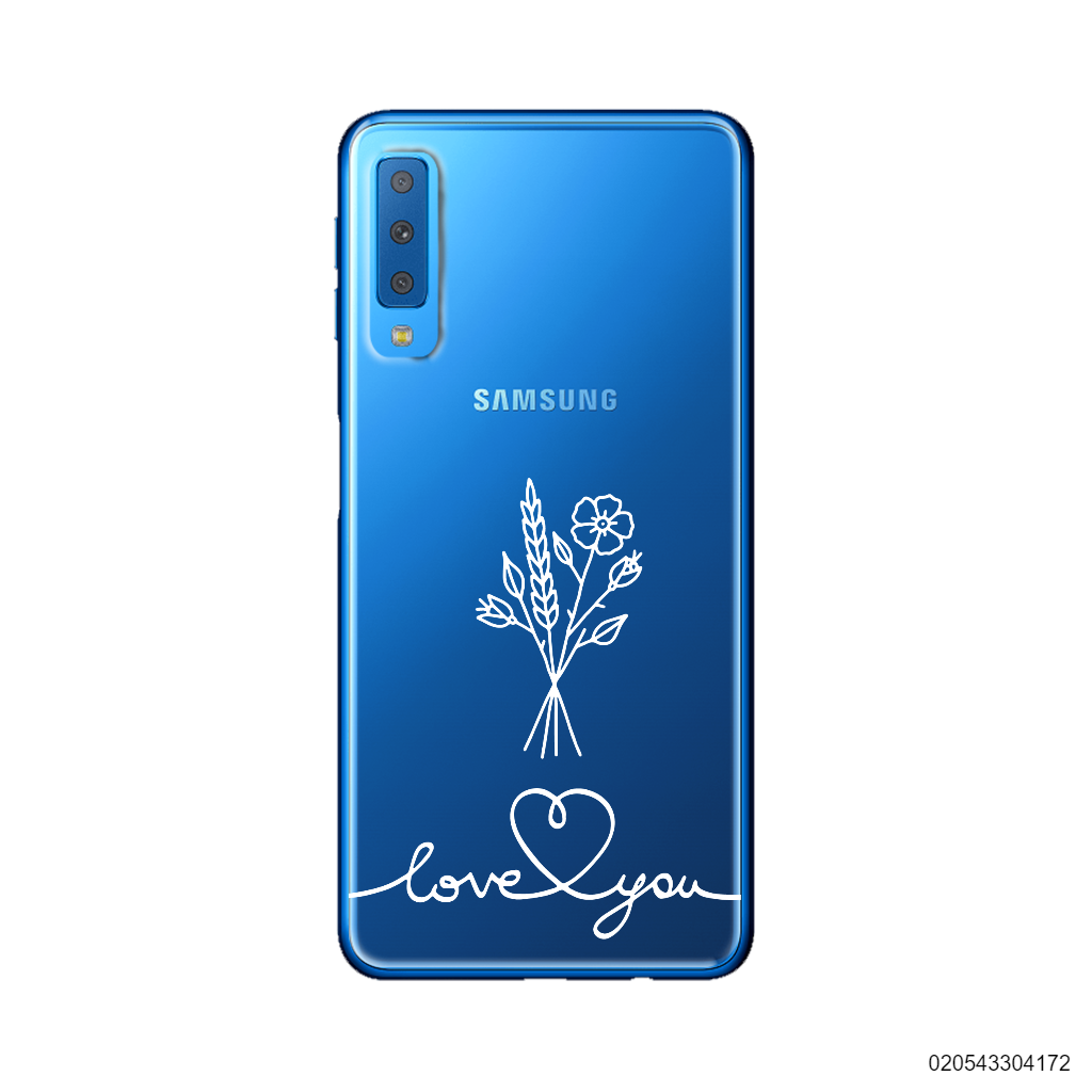 CUSTOM FLOWER BOUQUET LOVE YOU - Samsung Galaxy A7 2018