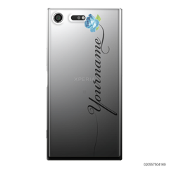 CUSTOM YOUR NAME WITH BLUE ROSE - Sony Xperia XZ Premium