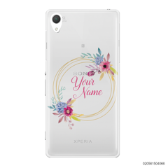 CUSTOMIZE WITH COLORFULL FLOWERS FRAME - Sony Xperia Z2