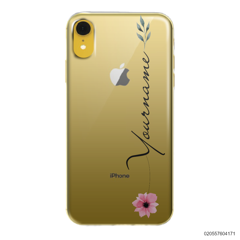 CUSTOM YOUR NAME WITH PINK FLOWER - Iphone XR