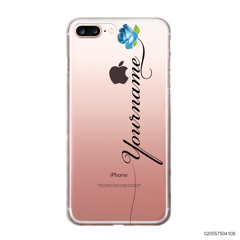 CUSTOM YOUR NAME WITH BLUE ROSE - iPhone 7 plus