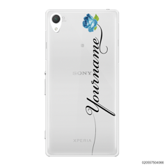 CUSTOM YOUR NAME WITH BLUE ROSE - Sony Xperia Z2