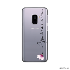 CUSTOM YOUR NAME WITH PINK MAGNOLIA - Samsung Galaxy A8 Plus 2018