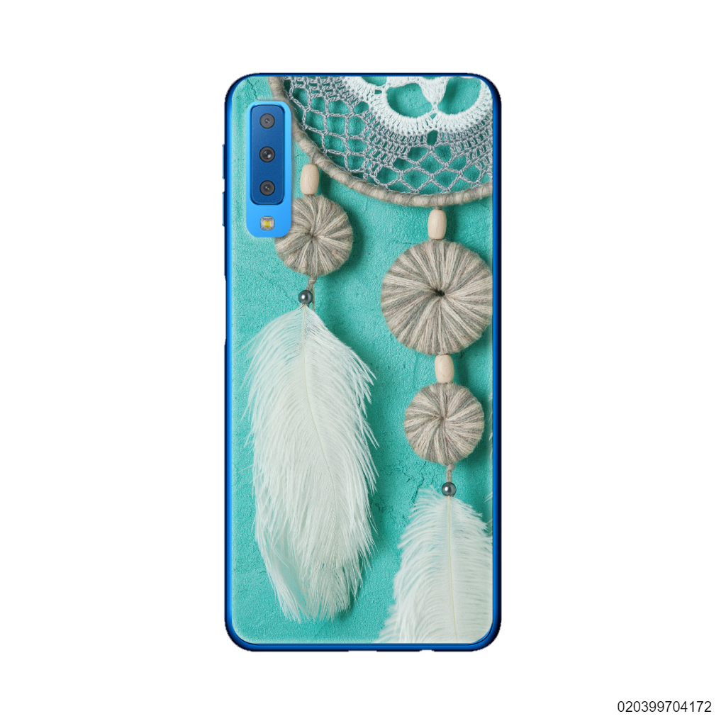 DREAM CATCHER WITH WHITE LEATHER - Samsung Galaxy A7 2018