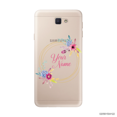 CUSTOMIZE WITH COLORFULL FLOWERS FRAME - Samsung Galaxy J5 Prime