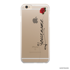 CUSTOM YOUR NAME WITH RED ROSE - IPhone 6/6s Plus