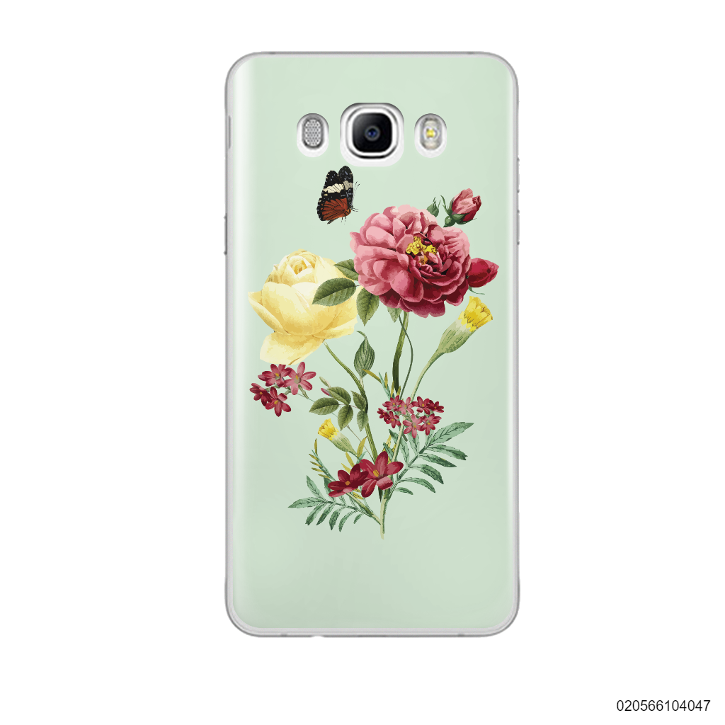 PEONY BOUQUET ON LIGHT GREEN THEME - Samsung Galaxy J7 2016