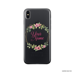 CUSTOMIZE LOVELY FLOWERS FRAME - Iphone X/ Xs