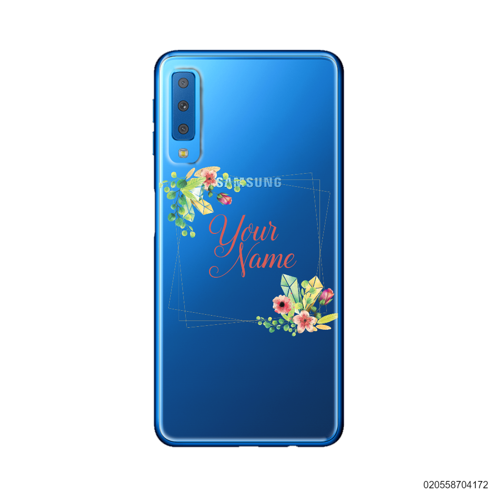 CUSTOMIZE TINY FLOWERS FRAME - Samsung Galaxy A7 2018