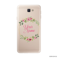 CUSTOMIZE LOVELY FLOWERS FRAME - Samsung Galaxy J5 Prime