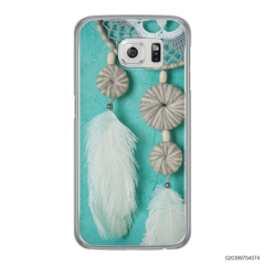 DREAM CATCHER WITH WHITE LEATHER - Samsung Galaxy S6 Edge