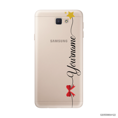 CUSTOM WITH RED RIBBON AND YELLOW STAR - Samsung Galaxy J5 Prime