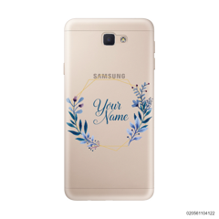 CUSTOMIZE BLUE LEAVES FRAME - Samsung Galaxy J5 Prime
