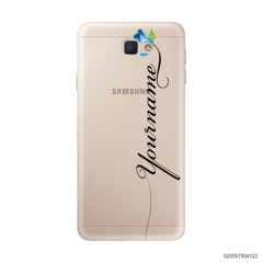 CUSTOM YOUR NAME WITH BLUE ROSE - Samsung Galaxy J5 Prime