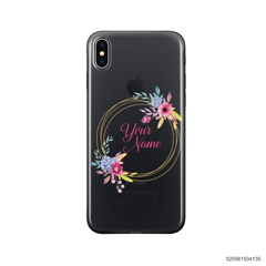 CUSTOMIZE WITH COLORFULL FLOWERS FRAME - Iphone X/ Xs