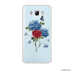 BLUE PEONY BOUQUET ON BLUE THEME - Samsung Galaxy J7 2016