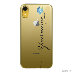 CUSTOM YOUR NAME WITH BLUE ROSE - Iphone XR