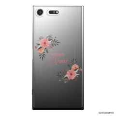 CUSTOMIZE ORANGE FLOWERS FRAME - Sony Xperia XZ Premium