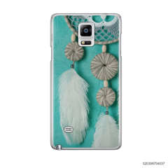 DREAM CATCHER WITH WHITE LEATHER - Samsung Galaxy Note 4