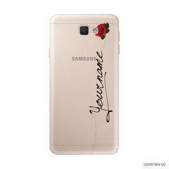 CUSTOM YOUR NAME WITH RED ROSE - Samsung Galaxy J5 Prime