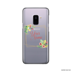 CUSTOMIZE TINY FLOWERS FRAME - Samsung Galaxy A8 Plus 2018