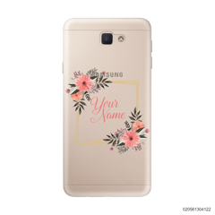 CUSTOMIZE ORANGE FLOWERS FRAME - Samsung Galaxy J5 Prime