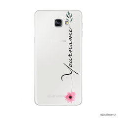 CUSTOM YOUR NAME WITH PINK FLOWER - Samsung Galaxy A9 Pro