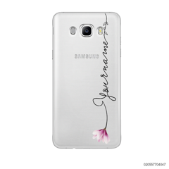 CUSTOM YOUR NAME WITH PINK MAGNOLIA - Samsung Galaxy J7 2016