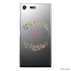 CUSTOMIZE LOVELY FLOWERS FRAME - Sony Xperia XZ Premium