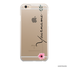 CUSTOM YOUR NAME WITH PINK FLOWER - IPhone 6/6s Plus