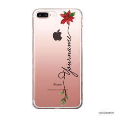 CUSTOM WITH CHRISTMAS LEAVES - iPhone 7 plus