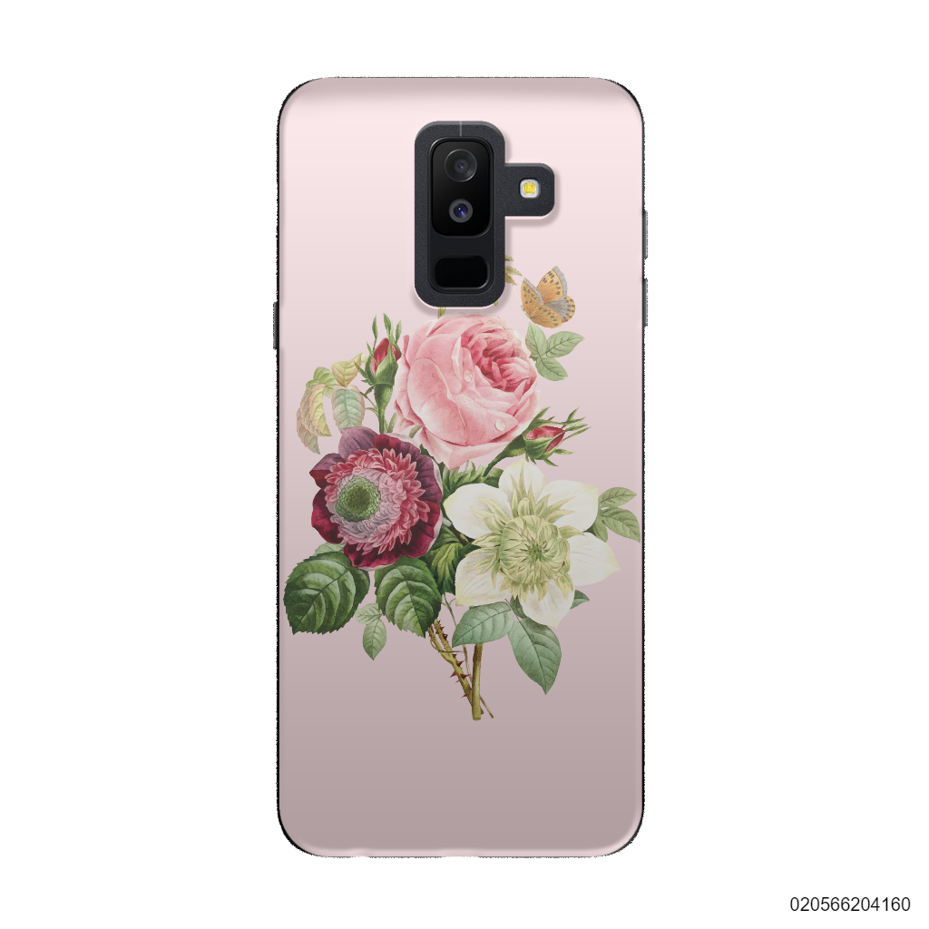 PEONY BOUQUET ON PINK THEME - Samsung Galaxy A6 Plus 2018