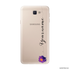 CUSTOM YOUR NAME WITH PURPLE FLOWER - Samsung Galaxy J5 Prime