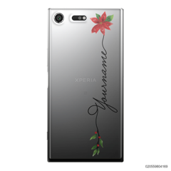 CUSTOM WITH CHRISTMAS LEAVES - Sony Xperia XZ Premium