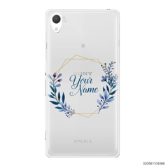 CUSTOMIZE BLUE LEAVES FRAME - Sony Xperia Z2
