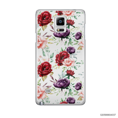 PATTERN RED AND VIOLET PEONY - Samsung Galaxy Note 4