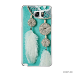DREAM CATCHER WITH WHITE LEATHER - Samsung Galaxy Note 5